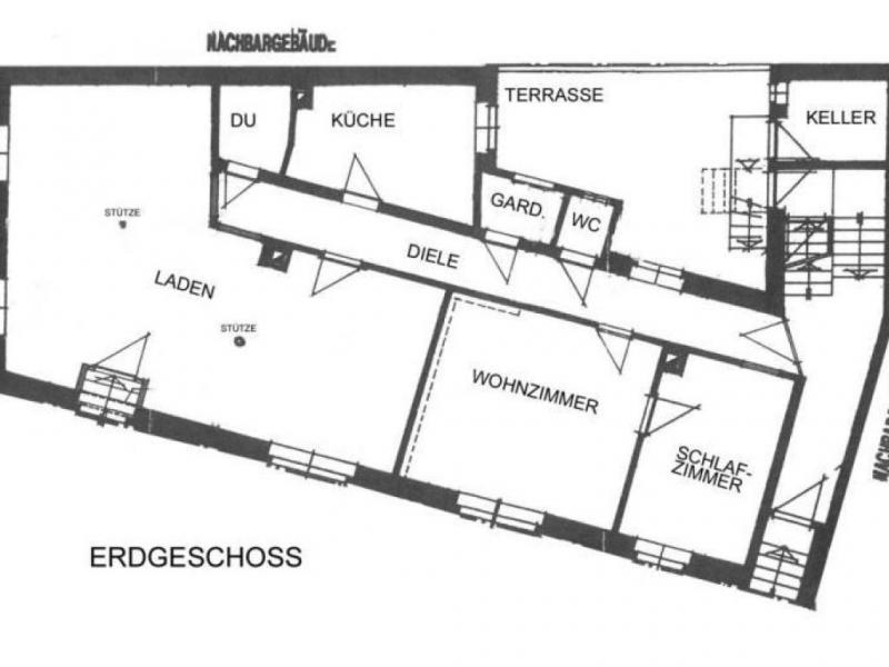 2 Zimmer Eigentumswohnung mit Laden-Geschäft (gesamt 119qm) in ...